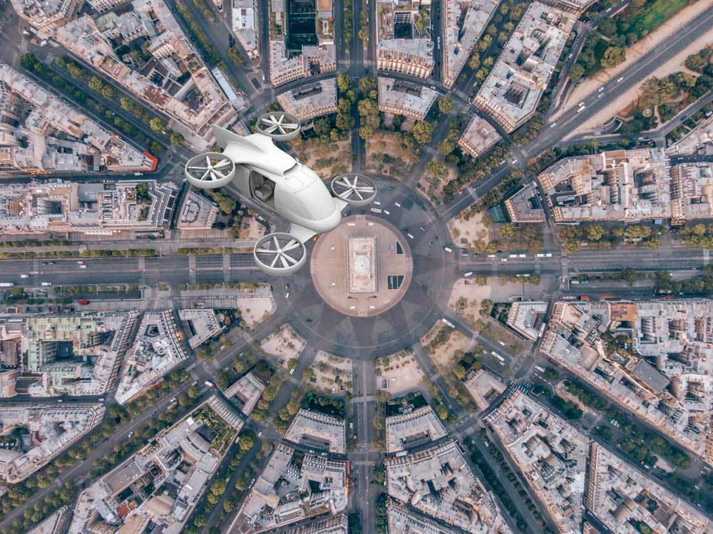 drone buttairfly paris