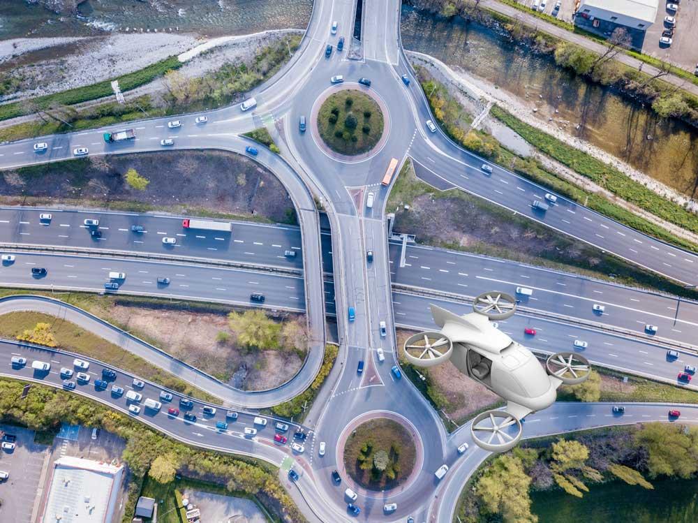 drone buttairfly réseau routier